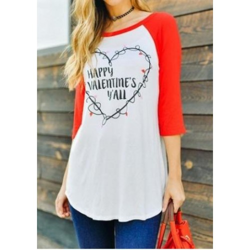 Texas Valentines Day Baseball Tee LT1047-40