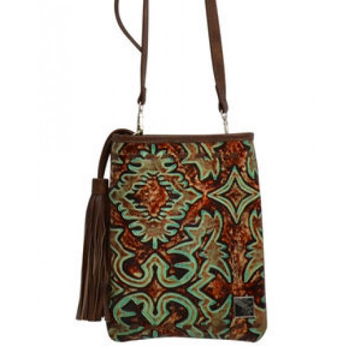 Angel Ranch Women's Filigree Pattern Crossbody Purse
