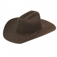 Twister Chocolate Wool Youth Cowboy Hat