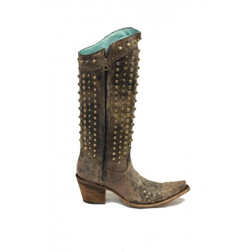 Corral Chocolate Full Studded Boots