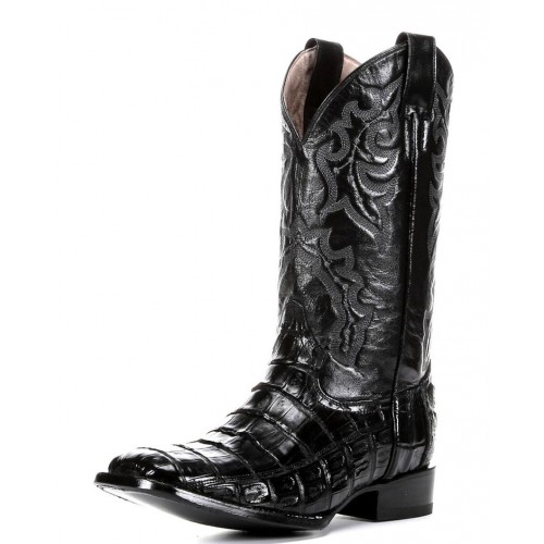 MEN'S CIRCLE G- BLACK CAIMAN GATOR BELLY