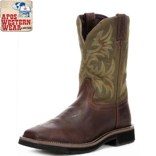 JUSTIN - WAXY BROWN COWHIDE