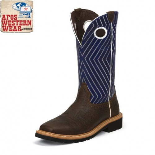MEN'S JUSTIN- DARK CHESNUT