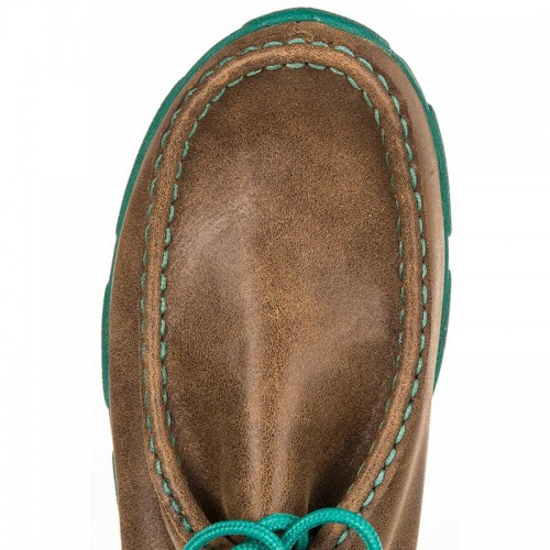 WOMEN'S TWISTED X-TURQUOISE DRIVING MOCS