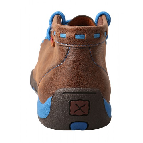 Kid's Driving Moccasins – Brown/Blue YDM0027